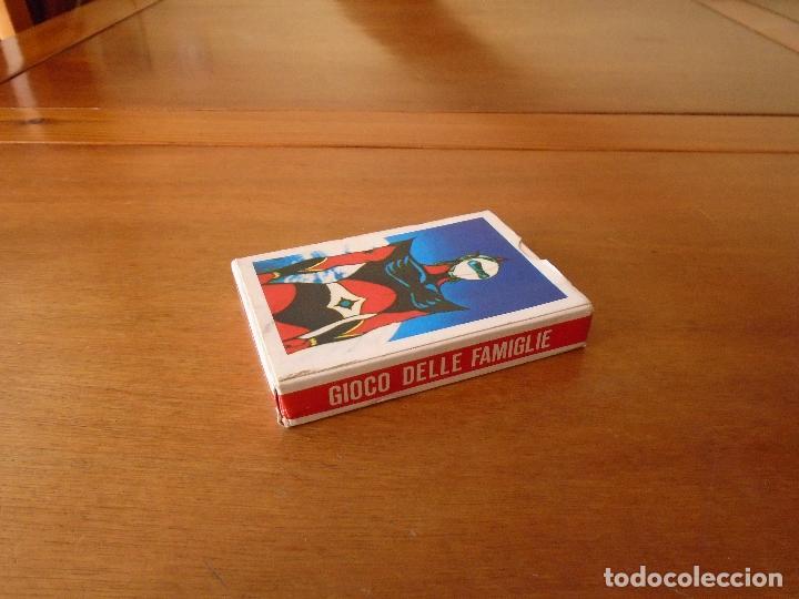 BARAJA DE CARTAS SERIE DE DIBUJOS ANIMADOS GOLDRAKE TOEI ANIMATION 1978. GIOCO DELLE FAMIGLIE (Juguetes y Juegos - Cartas y Naipes - Barajas Infantiles)