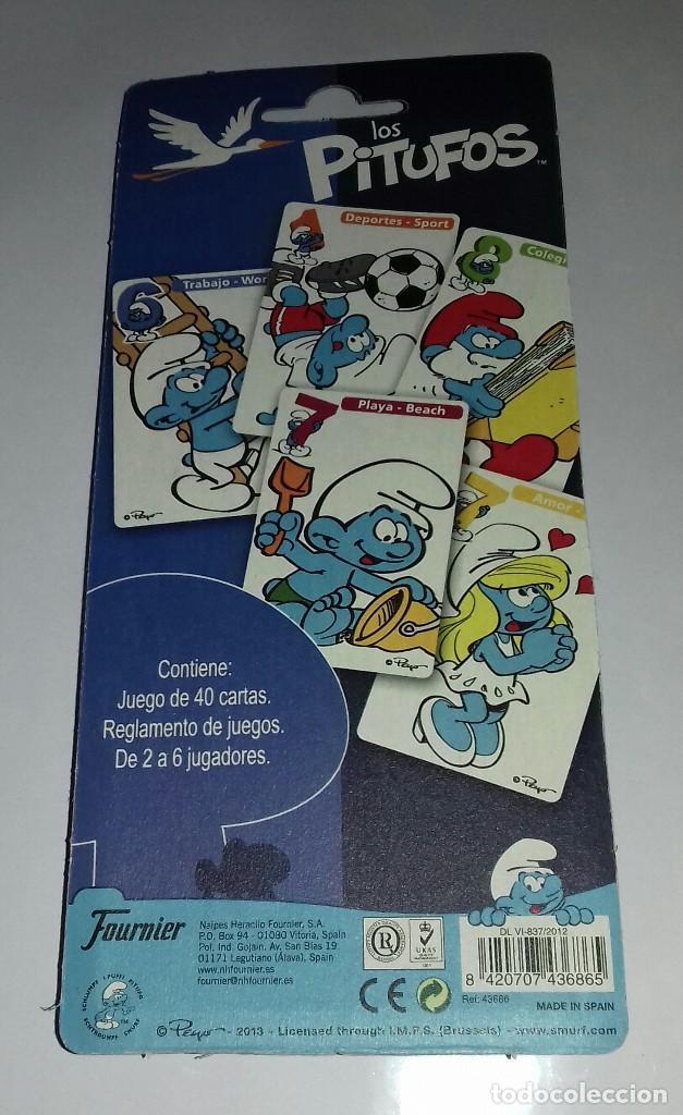Barajas de cartas: Baraja de cartas Los Pitufos año.2013 - Foto 2 - 120364719