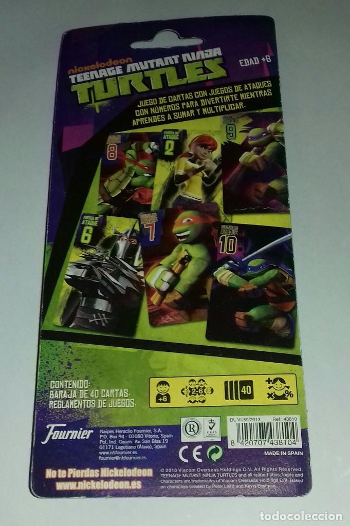 Barajas de cartas: Baraja de cartas Tortugas Ninja - año.2013 - Foto 2 - 120365403