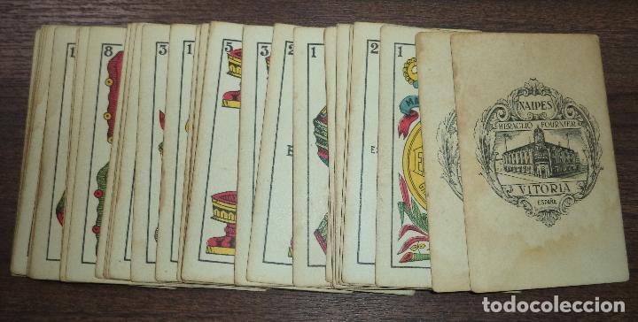 BARAJA DE CARTA ESPAÑOLA. EL HERALDO. MARCA DE OLEA. CADIZ. SIN APENAS USO. 1907. (Juguetes y Juegos - Cartas y Naipes - Baraja Española)