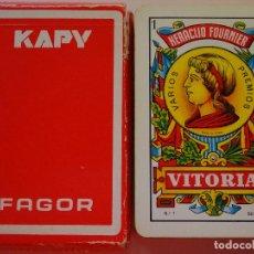 Barajas de cartas: BARAJA DE CARTAS ESPAÑOLA. FOURNIER. KAPY FAGOR. 80 GR. Lote 120668003