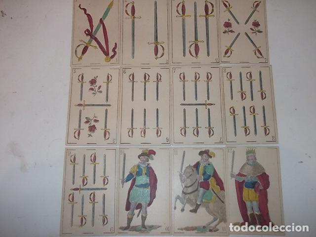 Barajas de cartas: RARA DE VER ANTIGUA BARAJA MACIA DE 1865 NO JUGADA,VER DESCRIPCION - Foto 10 - 120743123
