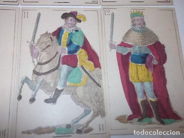 Barajas de cartas: RARA DE VER ANTIGUA BARAJA MACIA DE 1865 NO JUGADA,VER DESCRIPCION - Foto 15 - 120743123