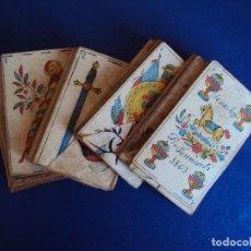 Barajas de cartas: (CHO-434)BARAJA DE NAIPES DE UNA HOJA - POR SANMARTI - AÑO 1843. Lote 120900243