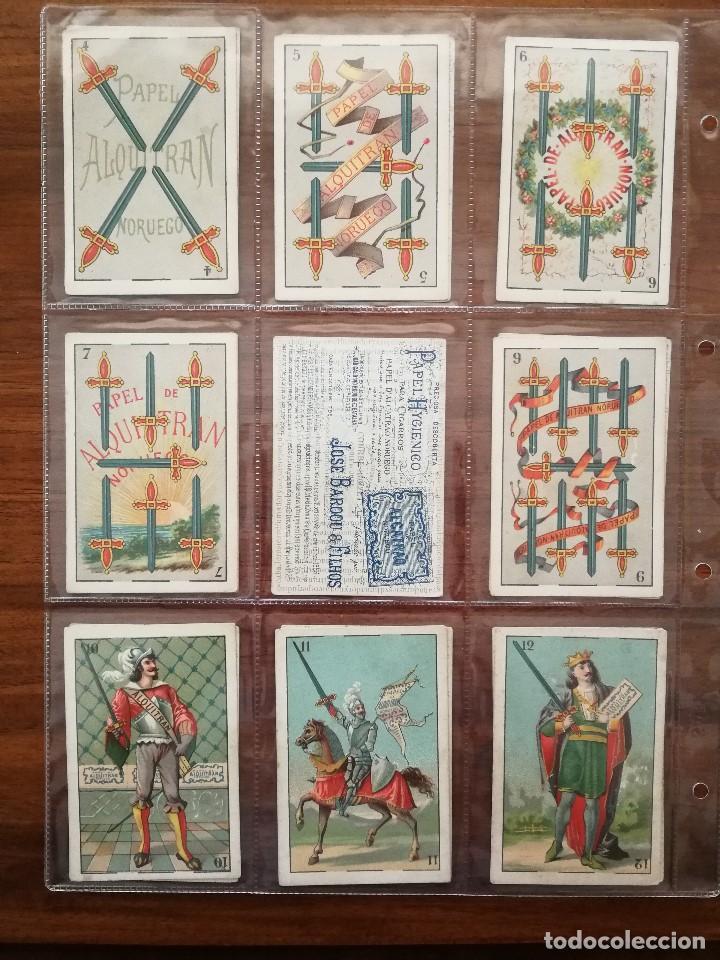 Barajas de cartas: BARAJA PAPEL DE FUMAR ALQUITRAN NORUEGO - Faltan 5 - REVERSO EN PORTUGUES JOSE BARDOU & FILHOS - Foto 4 - 121002899