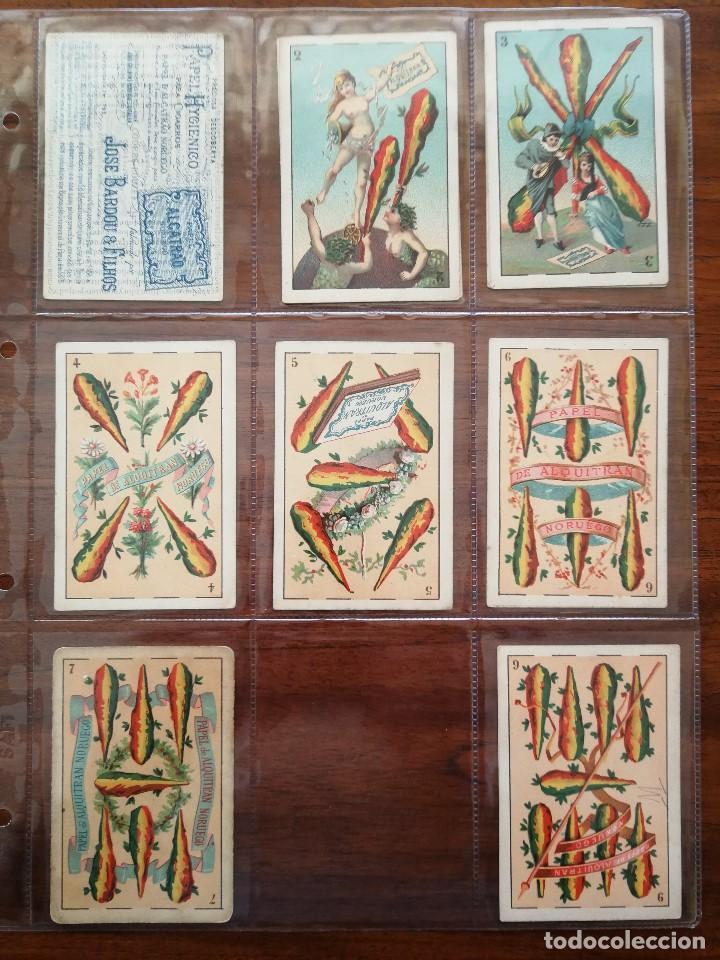 Barajas de cartas: BARAJA PAPEL DE FUMAR ALQUITRAN NORUEGO - Faltan 5 - REVERSO EN PORTUGUES JOSE BARDOU & FILHOS - Foto 5 - 121002899