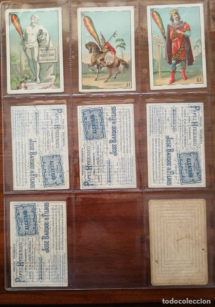 Barajas de cartas: BARAJA PAPEL DE FUMAR ALQUITRAN NORUEGO - Faltan 5 - REVERSO EN PORTUGUES JOSE BARDOU & FILHOS - Foto 6 - 121002899