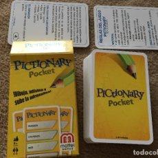 Barajas de cartas: PICTIONARY POCKET JUEGO DE CARTA CARTAS KREATEN. Lote 121273415