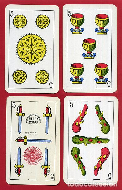 Barajas de cartas: BARAJA COMAS , 50 NAIPES Nº 40 , TIMBRE 1,50 PTAS , COMPLETA , PERFECTA , ORIGINAL , B1 - Foto 7 - 121349675