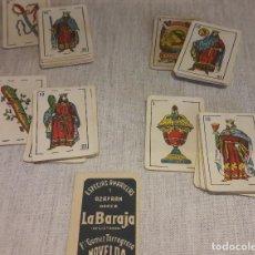 Barajas de cartas: BARAJA LILIPUT DORSO AZAFRAN LA BARAJA / NAIPES ROURA - BARCELONA. COMPLETA / LEER.. Lote 121448431