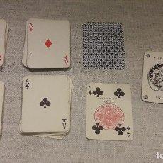 Barajas de cartas: FOURNIER / BARAJA DE PÓKER LILIPUT COMPLETA 54 NAIPES / SELLO DE 1956 / DOS PESETAS. BUEN ESTADO.. Lote 121463035