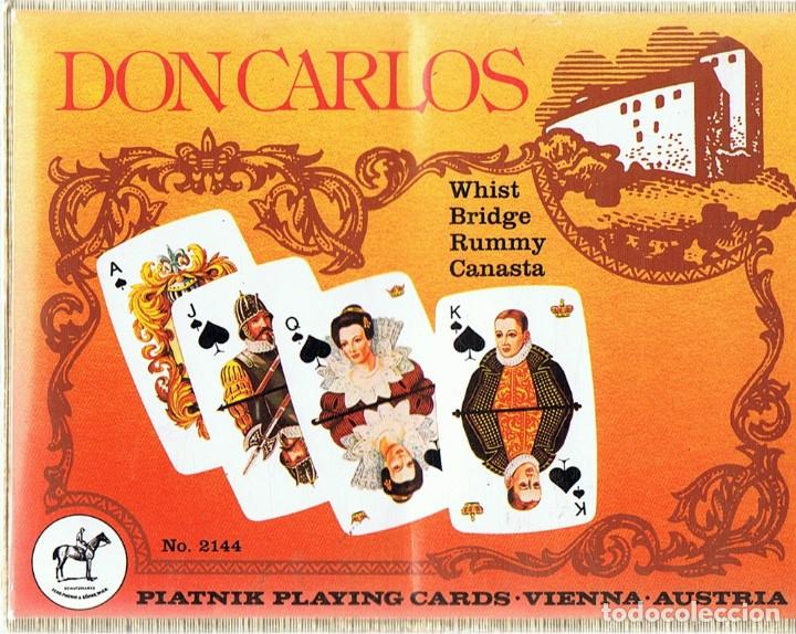 PIATNIK PLAYING CARDS DON CARLOS VIENNA AUSTRIA (PRECINTADO) (Juguetes y Juegos - Cartas y Naipes - Barajas de Póker)