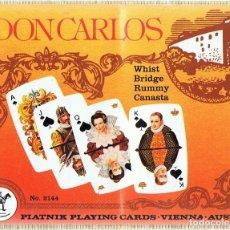 Barajas de cartas: PIATNIK PLAYING CARDS DON CARLOS VIENNA AUSTRIA (PRECINTADO). Lote 121497903