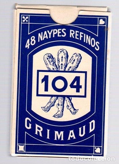 Barajas de cartas: BARAJA 48 NAYPES REFINOS 104. GRIMAUD. COMPLETA. - Foto 2 - 121588927