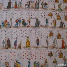 Barajas de cartas: CARTAS TAROT LIBRO DEL DESTINO. 36 CARTAS. GRIMAUD 1963. CON EXPLICACIONES EN INGLES. SIN ESTUCHE.. Lote 121656631
