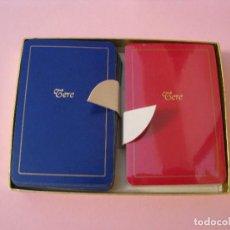Barajas de cartas: ESTUCHE CON 2 BARAJAS DE CARTAS DE THE AMALGATED PLAYING CARD CO LTD. LONDON. AÑOS 70.. Lote 121658855