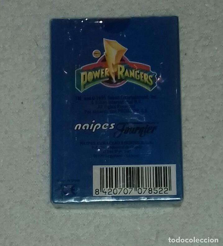 Barajas de cartas: Baraja de cartas Power Rangers - Año 1995 - Foto 2 - 121675495