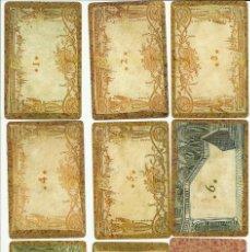 Barajas de cartas: ANTIGUA BARAJA JUEGO LOTTO OLLANDESE - ITALIA SIGLO XVIII - NUEVA - CERTIFICADO COLECCION FOURNIER. Lote 121700447