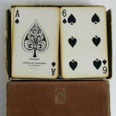 Barajas de cartas: DOBLE BARAJA DE CARTAS DE POKER. TEXTIL VITORIA. COMPLETAS. AÑOS 70.. Lote 121851751
