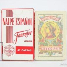 Barajas de cartas: BARAJA DE CARTAS ESPAÑOLA - HERALCIO FOURNIER / PUBLICIDAD FUNDADOR DOMECQ - EDITOR FOURNIER. Lote 121880772