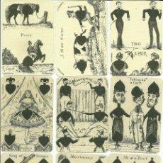 Barajas de cartas: ANTIGUA BARAJA DE TRANSFORMACION - ISLAS BRITANICAS SIGLO XIX - NUEVA - CERTIF, COLECCION FOURNIER. Lote 121918607