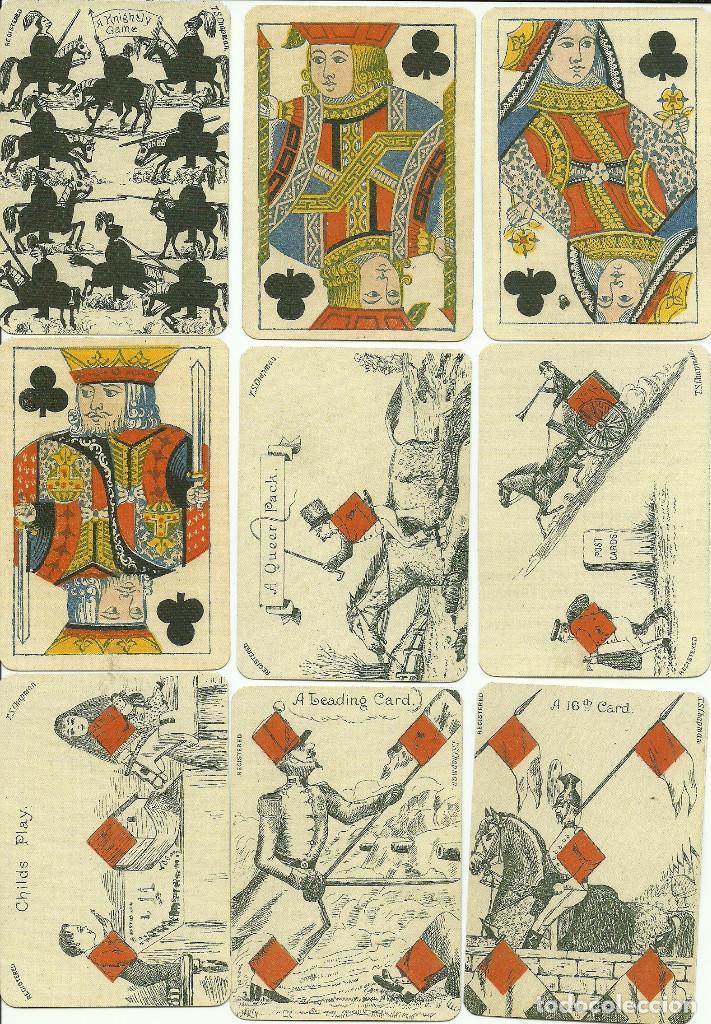 Barajas de cartas: ANTIGUA BARAJA DE TRANSFORMACION - ISLAS BRITANICAS SIGLO XIX - NUEVA - CERTIF, COLECCION FOURNIER - Foto 3 - 121918607