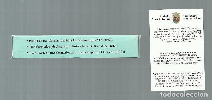 Barajas de cartas: ANTIGUA BARAJA DE TRANSFORMACION - ISLAS BRITANICAS SIGLO XIX - NUEVA - CERTIF, COLECCION FOURNIER - Foto 7 - 121918607