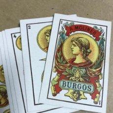 Barajas de cartas: JUEGO DE CARTAS ANTIGUO DE A.MOLINER BURGOS TIMBRE DE 30 CENTIMOS ESPECIALIDAD EN NAIPES OPACOS. Lote 121929015