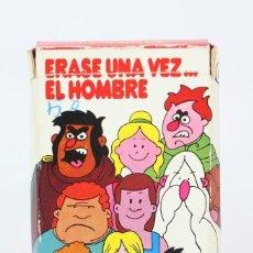 Barajas de cartas: BARAJA DE CARTAS INFANTIL - ERASE UNA VEZ... EL HOMBRE - EDITOR FOURNIER - 32 CARTAS - COMPLETA. Lote 121996995