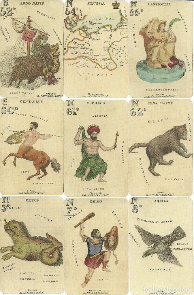 Barajas de cartas: ANTIGUA BARAJA ASTRONOMICA - ISLAS BRITANICAS SIGLO XIX - NUEVA - CERTIFICADO COLECCION FOURNIER - Foto 2 - 153547504