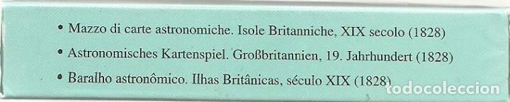 Barajas de cartas: ANTIGUA BARAJA ASTRONOMICA - ISLAS BRITANICAS SIGLO XIX - NUEVA - CERTIFICADO COLECCION FOURNIER - Foto 3 - 153547504