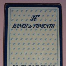 Barajas de cartas: BARAJA DE CARTAS ESPAÑOLA FOURNIER. BANCO DE FOMENTO. BANCO CAJAS DE AHORRO. PRECINTADA. 80 GR. Lote 122089579
