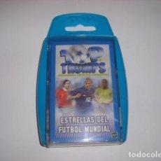 Jeux de cartes: ESTRELLAS DEL FUTBOL MUNDIAL BARAJA DE CARTAS TOP TRUMPS HASBRO. Lote 122125883