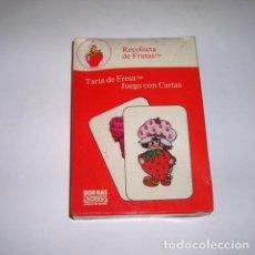 Barajas de cartas: TARTA DE FRESA RECOLECTA DE FRUTAS BARAJA DE CARTAS INFANTIL ANTIGUA. Lote 122126235