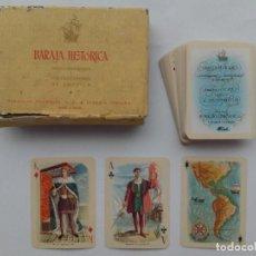 Barajas de cartas: BARAJA HISTORICA - DESCUBIRDORES Y COLONIZADORES DE AMERICA - FOURNIER - CONSERVA CAJA ORIGINAL. Lote 122166251