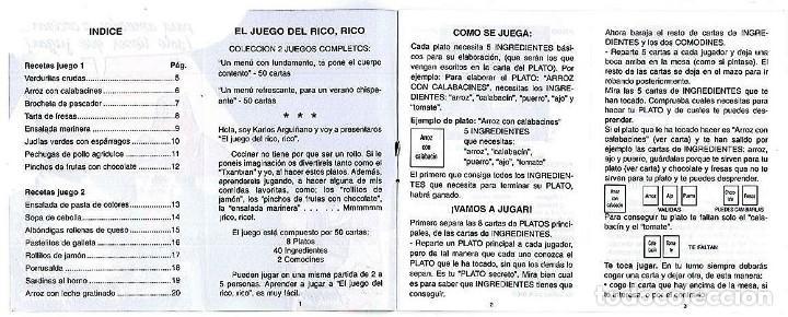 Barajas de cartas: BARAJA, EL JUEGO DEL RICO RICO, DE KARLOS ARGUIÑANO, MENU REFRESCANTE FOURNIER, NUEVA, PRECINTADA - Foto 15 - 172729485