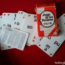 Barajas de cartas: BARAJA FOURNIER DEL JUEGO PALABRAS CRUZADAS EN SU ESTUCHE E INSTRUCCIONES DEL JUEGO. Lote 122368431