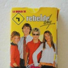 Mazzi di carte: BARAJA OBSEQUIO REVISTA SUPER POP REBELDE WAY - COMPLETA. Lote 170976527