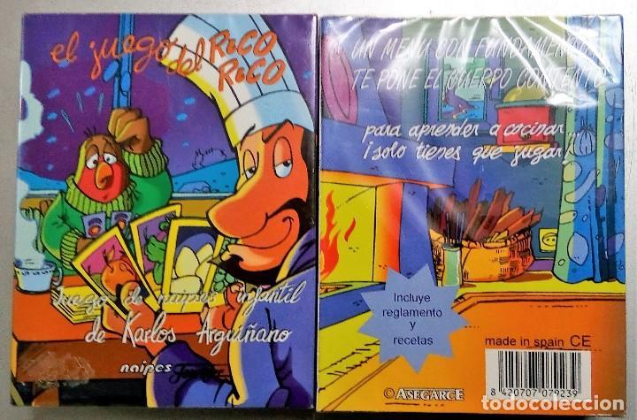 EL JUEGO DEL RICO RICO-KARLOS ARGUIÑANO-ASEGARCE-MENÚ CON FUNDAMENTO- FOURNIER-NUEVO A DESPRECINTAR (Juguetes y Juegos - Cartas y Naipes - Otras Barajas)