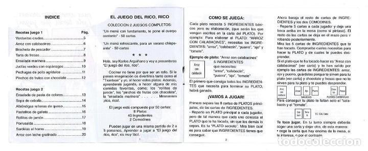 Barajas de cartas: EL JUEGO DEL RICO RICO-KARLOS ARGUIÑANO-ASEGARCE-MENÚ CON FUNDAMENTO- FOURNIER-NUEVO A DESPRECINTAR - Foto 38 - 130481122