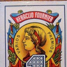 Barajas de cartas: BARAJA DE CARTAS HERACLIO FOURNIER 1, DE 40 CARTAS. NAIPE OPACO MARFIL. COMPLETO. Lote 122572735