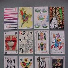 Barajas de cartas: BARAJA CENTRO ARTE EDICION EXCLUSIVA LIMITADA Y NUMERADA 12/100, HECHA A MANO, 50 ARTISTAS ARGENTINA. Lote 123013771