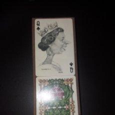 Barajas de cartas: DOS BARAJAS,CON CARICATURAS DE PERSONAJES HISTÓRICOS. 1973.VITORIA.. Lote 123050366