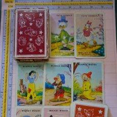Barajas de cartas: BARAJA DE CARTAS INFANTIL. FOURNIER AÑO 1961. WALT DISNEY. MICKEY DONALD BLANCANIEVES ENANITOS. Lote 123053303