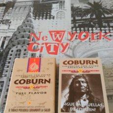 Barajas de cartas: BARAJA COBURN CIGARRITOS CON FILTRO. SIGUE LAS HUELLAS DE COBURN . 55 NAIPES TIPO FRANCES .CARTAS.. Lote 123462319