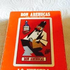Barajas de cartas: BARAJA RON AREHUCAS. Lote 123608643