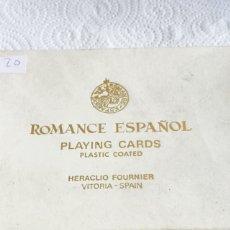Barajas de cartas: BARAJA ROMANCE ESPAÑOL. Lote 123610074