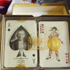 Barajas de cartas: LOTE DE 2 BARAJAS INGLESAS DE PÓKER. Lote 123614832