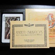 Barajas de cartas: BARAJA POKER CIVILIZACIONES ANTIGUAS HERACLIO FOURNIER NAIPES PLAYING CARDS ANCIENT CIVILISATIONS. Lote 124323391