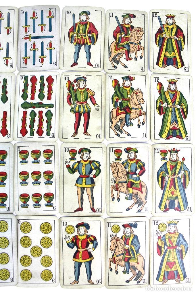 Barajas de cartas: CA-75 BARAJA JUAN ROURA. LA HISPANO-AMERICANA. BARCELONA. 48 NAIPES. REPÚBLICA. CIRCA 1932. USAD - Foto 2 - 124391975